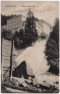 MUO-008745/81: BADGASTEIN Unterer Wasserfall: razglednica