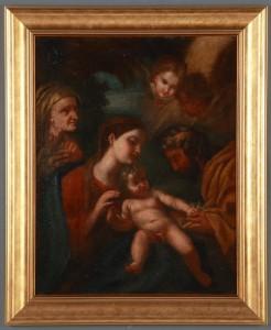 MUO-016313: Sv. obitelj sa sv. Anom: slika