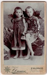 MUO-006517/38: Djevojčica i dječak: fotografija