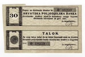 MUO-023264/02: Hrvatska poljodjelska banka: kupon
