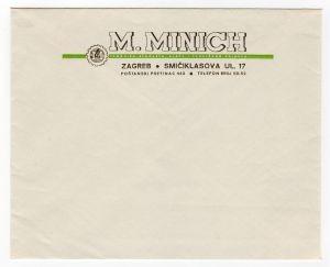 MUO-008307/30: M.MINICH trgovina strojeva, alata i tehničkog pribora: poštanska omotnica