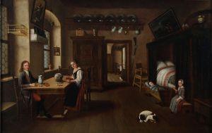 MUO-000029: Interieur nizozemskog građanskog doma: slika