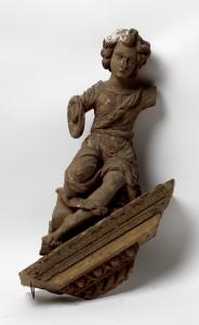 MUO-016512/01: Konzola s anđelom s pobočnog oltara iz Drivenika: konzola
