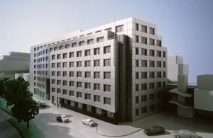 MUO-057463/04: Poslovna zgrada na parceli B uz kolodvor Franz Josef, Nordbergstrasse 13, Beč: arhitektonska studija