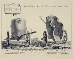 MUO-057436/13: Carro o Biga di Metallo Antico Etrusco usato ne Giuochi Circensi  igrama: grafika