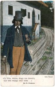 MUO-008745/77: France Prešeren: razglednica