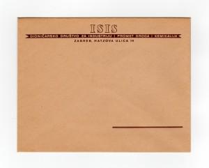 MUO-008307/57: ISIS dioničarsko društvo za industriju i promet droga i kemikalija: poštanska omotnica