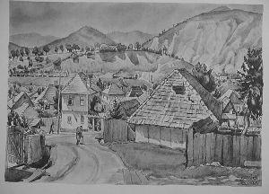 MUO-029894/40: Višegrad: Pogled na grad: grafika