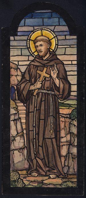 MUO-031563: Sv. Franjo: skica za vitraj