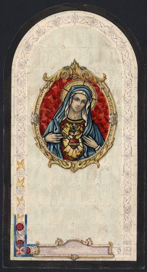 MUO-034629: Srce Marijino: skica za vitraj