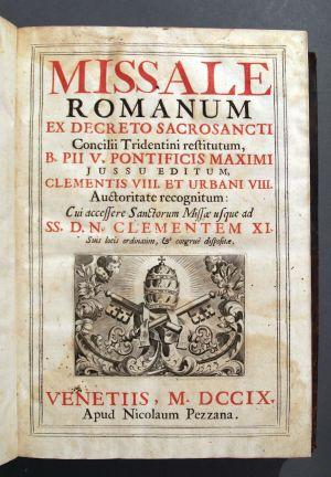 MUO-005268: Missale romanum ex decreto sacrosancti... Venetiis, MDCCIX: knjiga