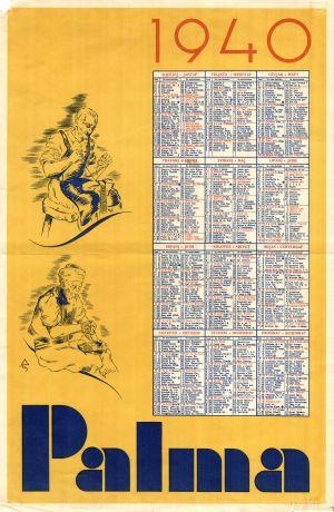 MUO-008305/29: PALMA 1940: kalendar