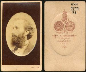 MUO-005755/58: Profil muškarca s bradom: fotografija