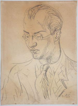 MUO-030448: Portret Zdenka Vinskog: crtež