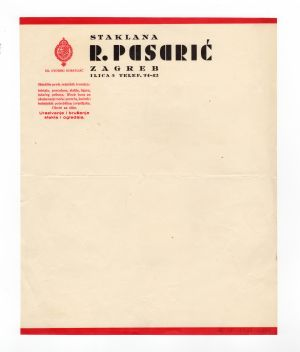 MUO-008307/36: staklana PASARIĆ: listovni papir