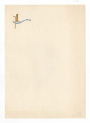 MUO-008307/09: s/s Princesa Olga JL: listovni papir