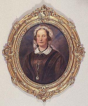 MUO-016743: Portret žene s bijelim ovratnikom: slika