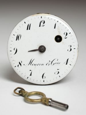 MUO-002453: mehanizam, brojčanik džepnog sata