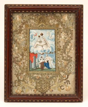 MUO-004646: Bogorodica Zaštitnica i sv. Tereza: posvetna slika