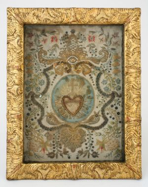 MUO-008799: Motiv Srca Isusovog s relikvijom sv. Amancija: relikvijar