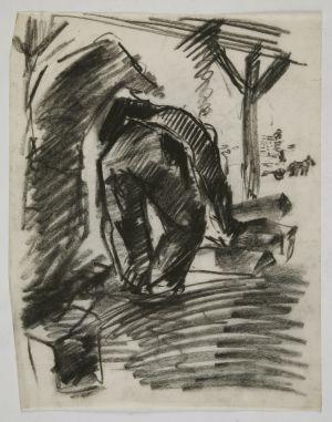 MUO-049902: Skica figure s leđa: crtež