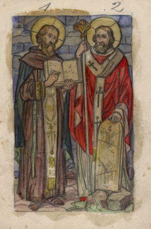 MUO-034642: Sv. Ćiril i Metod: skica za vitraj
