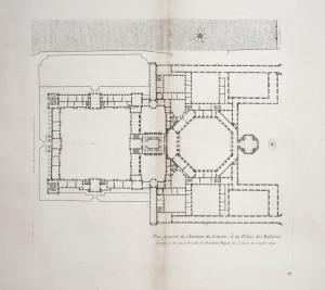MUO-055694/10: Glavni tlocrt dvorca Louvre i palače Tuileries 1: grafika