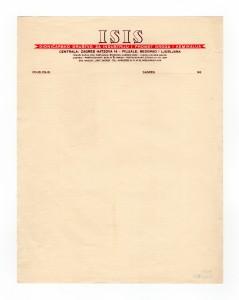 MUO-008307/54: ISIS dioničarsko društvo za industriju i promet droga i kemikalija: listovni papir
