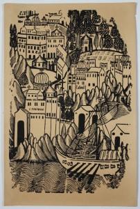MUO-005523: Manastiri na  Svetoj gori: grafika