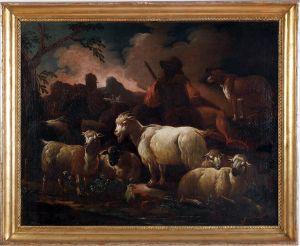MUO-000005: Krajolik sa pastirom: slika