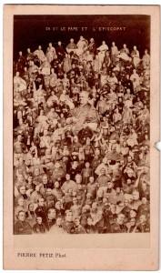 MUO-006517/02: Papa Pio IX. i klerici: fotografija