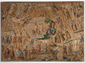MUO-011940: Kolaž s mitološkim likovima: slika