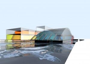 MUO-057582/02: Zatvoreni bazen, fitness i welness centar, Horn, Donja Austrija: arhitektonska studija