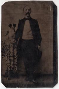 MUO-005609/43: Portret gospodina s psom: fotografija