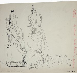 MUO-009821/01: Modni kostimi: crtež