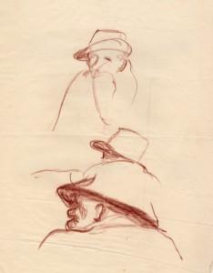 MUO-056456: Skica čovjeka: crtež