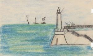 MUO-056560: Svjetionik: crtež