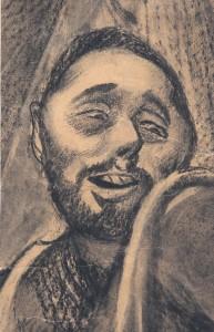 MUO-025730: Skica za muški lik: crtež