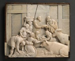 MUO-000238: Rođenje Kristovo: reljef