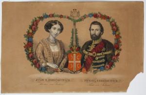 MUO-005353: Mihajlo i Julija Obrenović: grafika