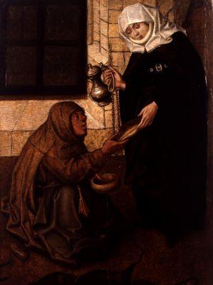 MUO-000004: Sv. Elizabeta Ugarska daruje prosjaka: slika