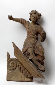 MUO-016512/02: Konzola s anđelom s pobočnog oltara iz Drivenika: konzola