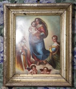 ZAG-0745: Sikstinska Madona prema Rafaelu: slika na porculanu