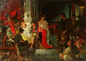 MUO-025428: Antički prizor (Sokrat i Alkibijad): slika