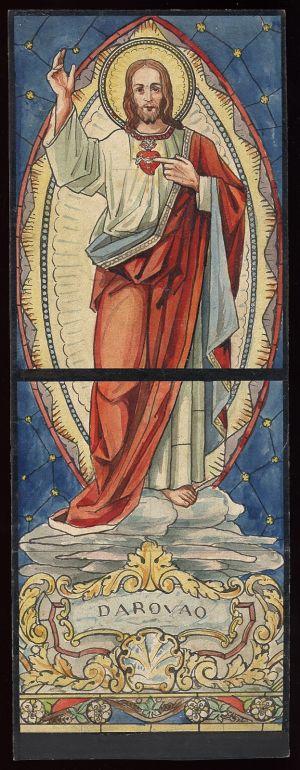 MUO-034624: Srce Isusovo: skica za vitraj