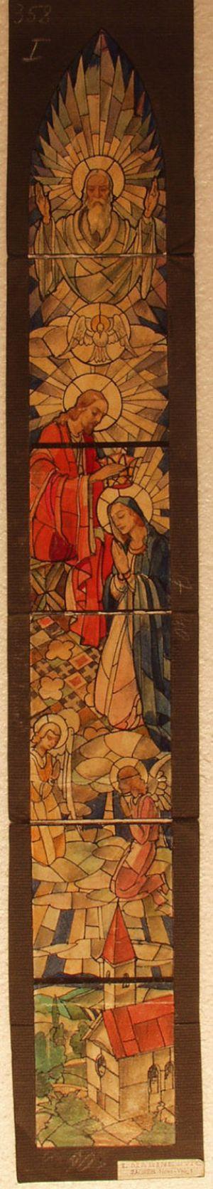 MUO-031486: Krunjenje Marije: skica za vitraj