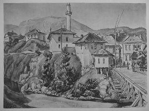 MUO-029894/41: Višegrad: Sa drvenog mosta: grafika