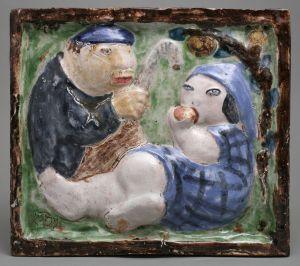 MUO-012002: Seljački par pod stablom: reljef