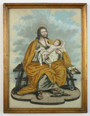 MUO-004600: Sv. Josip s Isusom: posvetna slika