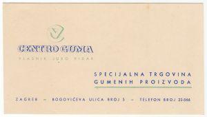 MUO-008307/63: CENTRO GUMA trgovina gumene robe: posjetnica